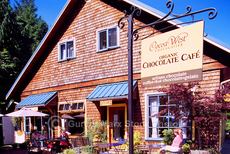 Bowen Island, BC, British Columbia, Canada - Cafe at Artisan Square