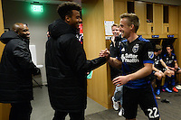 San Jose, CA - Saturday, March 04, 2017: Tommy Thompson after a Major League Soccer (MLS) match between the San Jose Earthquakes and the Montreal Impact at Avaya Stadium.
