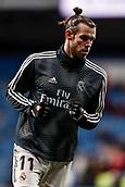 3rd February 2019, Santiago Bernabeu, Madrid, Spain; La Liga football, Real Madrid versus Alaves; Gareth Bale (Real Madrid)  Pre-match warm-up