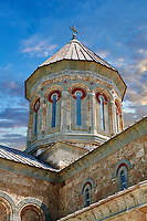 Pictures & images of Georgian Classica style church at The Monastery of St. Nino at Bodbe,  a Georgian Orthodox monastic complex and the seat of the Bishops of Bodbe, Sighnaghi, Kakheti, Georgia.