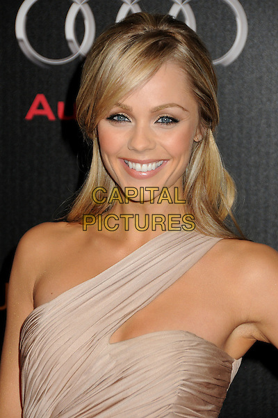 LAURA VANDERVOORT.Audi and J. Mendel Celebrate the 2011 Golden Globe Awards held at Cecconi's, Los Angeles, California, USA..January 9th, 2011.headshot portrait beige cream ruched one shoulder smiling .CAP/ADM/BP.©Byron Purvis/AdMedia/Capital Pictures.