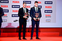 Sergio Leon and Isaac Becerra attends to the photocell of the Marca Awards 2015-2016 at Florida Park in Madrid. November 07, 2016. (ALTERPHOTOS/Borja B.Hojas) ///NORTEPHOTO.COM