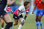 Chiharu Nakamura (JPN), <br /> AUGUST 6, 2016 - /Rugby : <br /> Women's Pool Round Pool C <br /> between  Great Britain 0-40 Japan Women's <br /> at Deodoro Stadium <br /> during the Rio 2016 Olympic Games in Rio de Janeiro, Brazil. <br /> (Photo by Yusuke Nakanishi/AFLO SPORT)