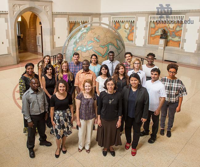 Aug. 22, 2014; 2014 Kroc Institute Master Degree students.<br /> <br /> Photo by Matt Cashore/University of Notre Dame