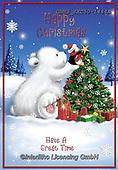 John, CHRISTMAS ANIMALS, WEIHNACHTEN TIERE, NAVIDAD ANIMALES, paintings+++++,GBHSSXC50-1444A,#xa# ,ice bear,polar bear
