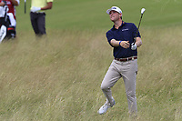 Trey Mullinax (USA) plays his 2nd shot from the fescue on the 11th hole during Saturday's Round 3 of the 117th U.S. Open Championship 2017 held at Erin Hills, Erin, Wisconsin, USA. 17th June 2017.<br /> Picture: Eoin Clarke | Golffile<br /> <br /> <br /> All photos usage must carry mandatory copyright credit (&copy; Golffile | Eoin Clarke)