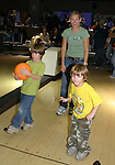 "Guiding Light's  Beth Ehlers ""Harley"" bowls with her two boys Hank (6) and Will (4) at the ""Bloss"" Bowling Event during the Guiding Light weekend on October 15, 2005 at the Port Authority, NY (Photo by Sue Coflin)"