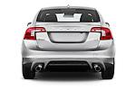 Straight rear view of 2017 Volvo S60 R-Design 4 Door Sedan Rear View  stock images