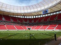 BRASÍLIA, DF 08, DE MAIO 2013. EX PRESIDENTE LULA VISITA O ESTÁDIO NACIONAL MANÉ GARRINCHA EM BRASÍLIA. Vista do Estadio durante vsita do ex presidente Luiz Ignácio Lula da Silva (LULA), junto com o governador do Distrito Federal Agnelo Queiroz, ao Estádio Nacional Mané Garrincha em Brasília nessa tarde de quata feira (08). FOTO RONALDO BRANDÃO / BRAZIL PHOTO PRESS