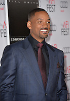 Actor Will Smith at the premiere of his movie &quot;Concussion&quot;, part of the AFI FEST 2015, at the TCL Chinese Theatre, Hollywood.<br /> November 10, 2015  Los Angeles, CA<br /> Picture: Paul Smith / Featureflash