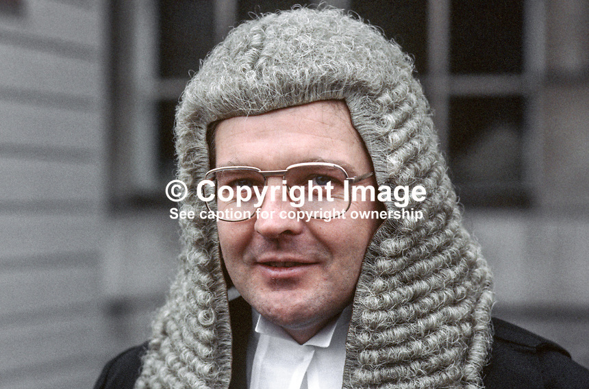 Malachy Higgins, QC, N Ireland, UK, 19850003MH..Copyright Image from Victor Patterson, 54 Dorchester Park, Belfast, UK, BT9 6RJ..Tel: +44 28 9066 1296.Mob: +44 7802 353836.Voicemail +44 20 8816 7153.Skype: victorpattersonbelfast.Email: victorpatterson@mac.com.Email: victorpatterson@ireland.com (back-up)..IMPORTANT: If you wish to use this image or any other of my images please go to www.victorpatterson.com and click on the Terms & Conditions. Then contact me by email or phone with the reference number(s) of the image(s) concerned.
