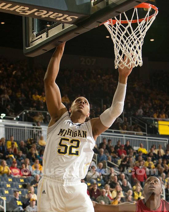 University of Michigan men's basketball team beat Iowa State, 76-66, at Crisler Arena in Ann Arbor, Mich., on December 3, 2011.