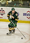 17 October 2015:  University of Vermont Catamount Defenseman Jake Kearley, a Freshman from Newmarket, Ontario, in third period action against the University of Nebraska Omaha Mavericks at Gutterson Fieldhouse in Burlington, Vermont. The Catamounts fell to the Mavericks 3-1. Mandatory Credit: Ed Wolfstein Photo *** RAW (NEF) Image File Available ***