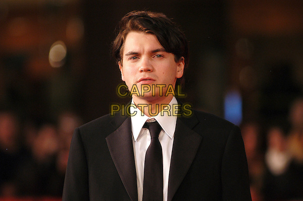 "EMILE HIRSCH.Red carpet arrivals for the film ""Into The Wild"" during the 2nd Annual Rome Film Festival, Rome, Italy..Red carpet arrivals for the film ""Into The Wild"" .October 24th, 2007.headshot portrait black suit jacket .CAP/CAV.©Luca Cavallari/Capital Pictures."