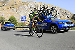 Aritz Bagues Kalparsoro (ESP) Euskadi-Murias on the slopes of Sierra de la Alfaguara near the finish of Stage 4 of the La Vuelta 2018, running 162km from Velez-Malaga to Alfacar, Sierra de la Alfaguara, Andalucia, Spain. 28th August 2018.<br /> Picture: Eoin Clarke   Cyclefile<br /> <br /> <br /> All photos usage must carry mandatory copyright credit (&copy; Cyclefile   Eoin Clarke)