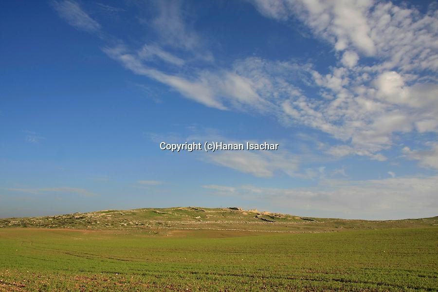 Israel, Shephelah, Hurvat Rimon, site of an ancient Jewish village