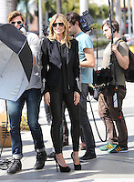 "Heidi Klum films her reality show "" Germany's Next Top Model "" - Los Angeles"