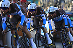 AG2R La Mondiale in action during Stage 1 of La Vuelta 2019, a team time trial running 13.4km from Salinas de Torrevieja to Torrevieja, Spain. 24th August 2019.<br /> Picture: Eoin Clarke | Cyclefile<br /> <br /> All photos usage must carry mandatory copyright credit (© Cyclefile | Eoin Clarke)