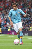 Men's Olympic Football match Spain v Japan on 26.7.12...Jordi Alba of Spain, during the Spain v Japan Men's Olympic Football match at Hampden Park, Glasgow............................