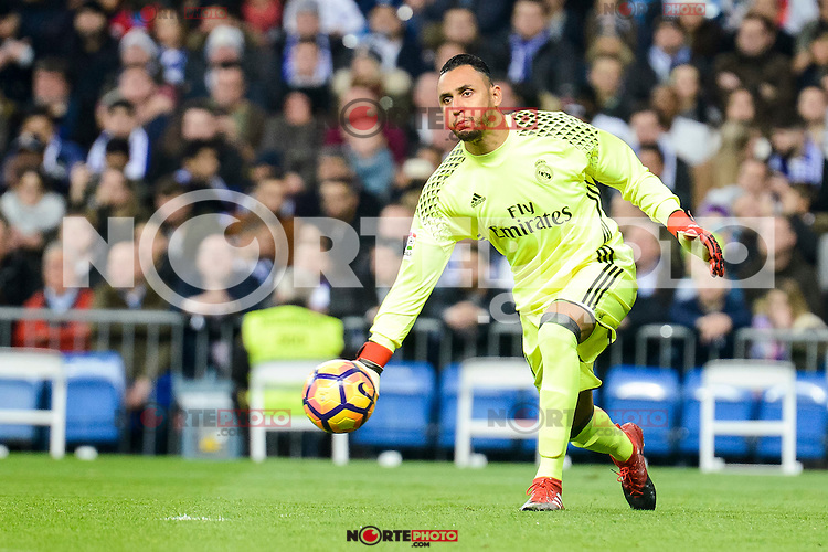 Real Madrid Keylor Navas during La Liga match between Real Madrid and Deportivo de la Coruña at Santiago Bernabeu Stadium in Madrid, Spain. December 10, 2016. (ALTERPHOTOS/BorjaB.Hojas) /NORTEPHOTO.COM
