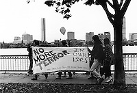 White Women Against Racism and Violence against women contingent at the First Jane Doe Walk for Women's Safety in Boston MA 1992