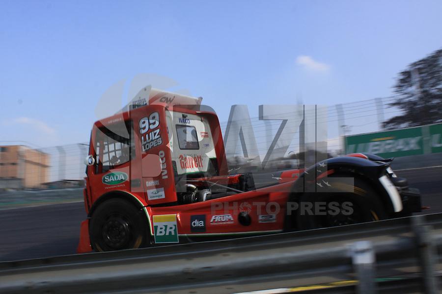 SÃO PAULO, SP, 31.07.2016 - FORMULA-TRUCK - Luiz Lopes durante etapa São Paulo da Formula Truck  no Autódromo de Interlagos, na região sul de São Paulo neste domingo (Foto: Adar Rodrigues/Brazil Photo Press)