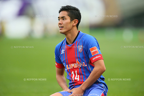 Yoshinori Muto (FC Tokyo), <br /> APRIL 18, 2015 - Football /Soccer : <br /> 2015 J1 League 1st stage match <br /> between F.C. Tokyo 1-2 Sanfrecce Hiroshima <br /> at Ajinomoto Stadium, Tokyo, Japan. <br /> (Photo by YUTAKA/AFLO SPORT) [1040]