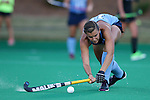 18 September 2015: North Carolina's Morgan Goetz. The University of North Carolina Tar Heels hosted the University of Louisville Cardinals at Francis E. Henry Stadium in Chapel Hill, North Carolina in a 2015 NCAA Division I Field Hockey match. UNC won the game 5-0.