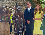 """CATHERINE, DUCHESS OF CAMBRIDGE AND PRINCE WILLIAM.visited replicas of cultural villagers that represented the nine districts of the Solomon Islands on the second day of their 3-day visit to the Solomon Islands..On departure she was presented with a head-garland consisting of frangipani and orchids, Honiara_17/09/2012.Mandatory credit photo: ©Dias/DIASIMAGES..(Failure to credit will incur a surcharge of 100% of reproduction fees)..                **ALL FEES PAYABLE TO: """"NEWSPIX INTERNATIONAL""""**..IMMEDIATE CONFIRMATION OF USAGE REQUIRED:.DiasImages, 31a Chinnery Hill, Bishop's Stortford, ENGLAND CM23 3PS.Tel:+441279 324672  ; Fax: +441279656877.Mobile:  07775681153.e-mail: info@newspixinternational.co.uk"""