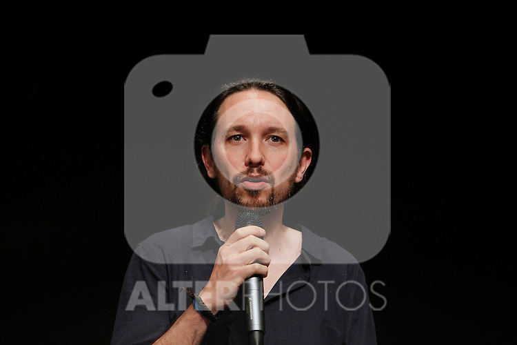 `Podemos´ leader Pablo Iglesias during the political party team presentation for the Spanish General Elections in Madrid, Spain. July 16, 2015. (ALTERPHOTOS/Victor Blanco)