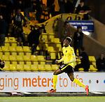 Myles Hippolyte celebrates his goal for Livingston