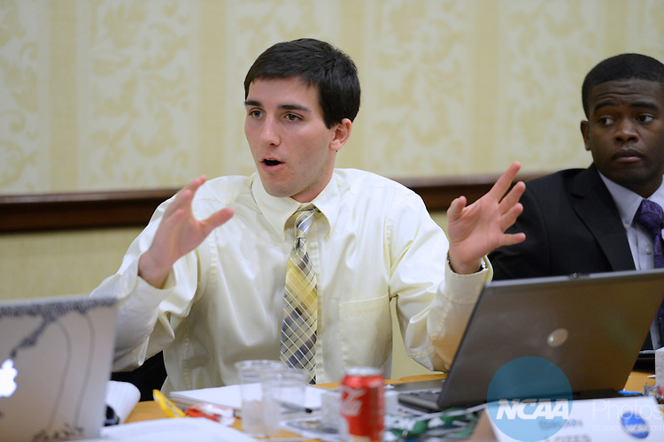 15 JAN 2013: The Division I Student-Athlete Advisory Committee Meeting during the 2013 NCAA Convention held at the Gaylord Texan in Grapevine, TX. Stephen Nowland/NCAA Photos.Pictured: Brian Lozes