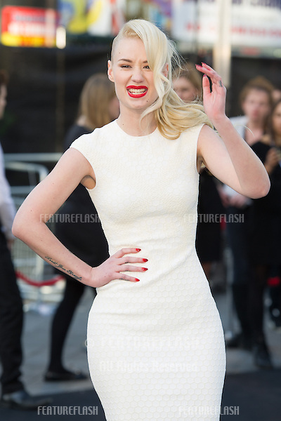 Iggy Azalea arriving for the World War Z World Premiere, at Empire Leicester Square, London. 02/06/2013 Picture by: Simon Burchell / Featureflash