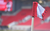 4th November 2017, Ashton Gate, Bristol, England; EFL Championship football, Bristol City versus Cardiff City; Corner flag at Bristol City with remembrance day message