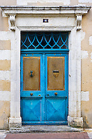 Traiditonal door, Ile De Re, France.