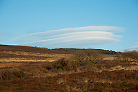 Unusual cloud formation on Longridge Fell near Clitheroe, Lancashire.