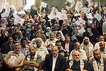 Palestinian supporters of al-Ahrar movement, attend a celebration marking the 8th anniversary of the movement's foundation in Gaza city on July 7, 2015. Photo by Ashraf Amra