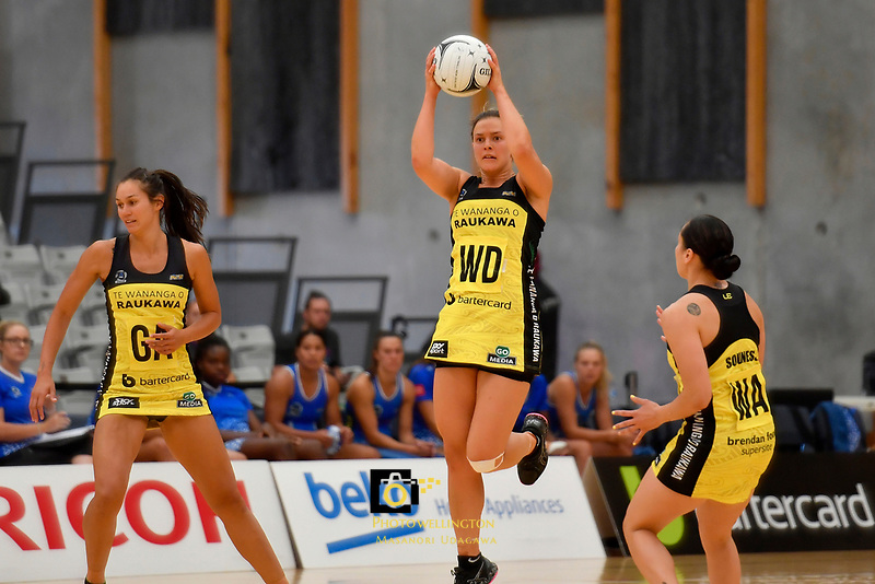 Pulse&rsquo; Elle Temu in action during the Pre Season Tournament - Pulse v Mystics at Ngā  Purapura, Otaki, New Zealand on Saturday 9 February  2019. <br /> Photo by Masanori Udagawa. <br /> www.photowellington.photoshelter.com