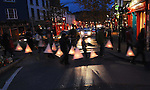 Saturday evening in Westport saw a lantern parade 'Meander' created by Artsquad for the Westport Arts festival ...Pic Conor McKeown