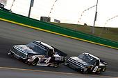 #4: Todd Gilliland, Kyle Busch Motorsports, Toyota Tundra Mobil 1 #8: John Hunter Nemechek, NEMCO Motorsports, Chevrolet Silverado Fleetwing Corporation