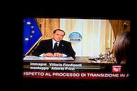 Italian Prime Minister Silvio Berlusconi after lost in local vote, invades the news broacast with the view to the next local elections ..Silvio Berlusconi invade i telegiornali della sera per scongiurare le sconfitte elettorali ai ballottaggi di Milano e Napoli.