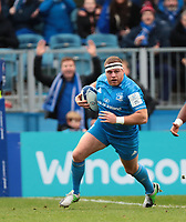 12th January 2020; RDS Arena, Dublin, Leinster, Ireland; Heineken Champions Champions Cup Rugby, Leinster versus Lyon Olympique Universitaire; Sean Cronin (Leinster) crosses the line to go in and score a try - Editorial Use