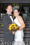 Caitriona McSweeney, daughter of Owen and Sheila,Scartaglin, and Jason O'Mahony, son of Ray and Pat, Model Farm Road, Cork, who were married on Friday in Scartaglin Church, Fr Dan Riordan officiated at the cermony. Best man was Pat Daly, and groomsmen were,Brian Cullan and Dermot Fitzgerald. Bridesmaids were, Marita and Mairead McSweeney (sisters of the bride) and Mary Browne. Flowergirls were, Errin O'Sullivan and Anna O'Halloran. Pageboy was Rian O'Sullivan. The reception was held in The Carlton Hotel, Tralee.