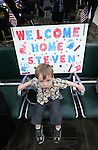 Jace Waddell, 19-months, of Gardnerville, was among the 300 family, friends and supporters on hand to greet Nevada Army Guard soldiers at the Reno-Tahoe International Airport in Reno, Nev., on Sunday, Feb. 16, 2014. Waddell's uncle Sgt. Steven Minifie is part of the 1/168th General Support Battalion returning from a 10-month deployment in Afghanistan. (Las Vegas Review-Journal/Cathleen Allison)