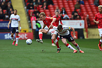 George Lapslie of Charlton Athletic and Paddy McNair of Middlesbrough during Charlton Athletic vs Middlesbrough, Sky Bet EFL Championship Football at The Valley on 7th March 2020