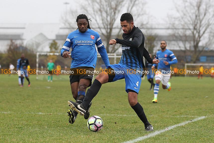 Highfield (blue/white) vs FC Bartlett, Hackney & Leyton Sunday League Albert Daniels Senior Cup Football at Hackney Marshes on 27th November 2016
