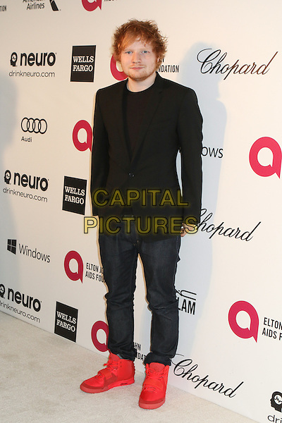WEST HOLLYWOOD, CA - MARCH 2: Ed Sheeran attending the 22nd Annual Elton John AIDS Foundation Academy Awards Viewing/After Party in West Hollywood, California on March 2nd, 2014. <br /> CAP/MPI/COR99<br /> &copy;COR99/MediaPunch/Capital Pictures