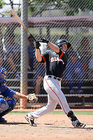 Ryan Lollis #26 of the San Francisco Giants plays in a minor league spring training game against the Chicago Cubs at the Cubs minor league complex on March 29, 2011  in Mesa, Arizona. .Photo by:  Bill Mitchell/Four Seam Images.