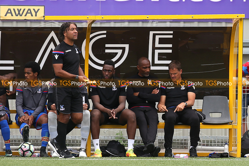 Crystal Palace Manager, Frank De Boer talks tactics with his Assistant, Orlando Trustfull during Maidstone United vs Crystal Palace, Friendly Match Football at the Gallagher Stadium on 15th July 2017