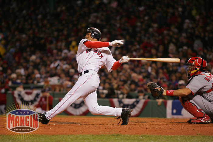 Orlando Cabrera. Baseball: 2004 World Series. St. Louis Cardinals vs Boston Red Sox. Boston, MA 10/24/2004 MANDATORY CREDIT: Brad Mangin/MLB Photos